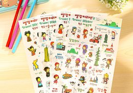 Wholesale Wholesale Diary For Girls - Wholesale- 6pcs lot Creative girl travel PVC Sticker for DIY Scrapbooking Diary Phone Sticker Products Design Paster Kawaii Stationary