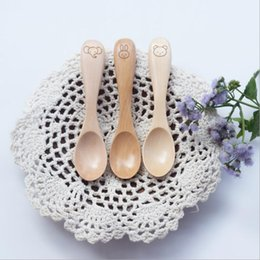 Wholesale Kitchen Utensils Baby - Cartoon Wooden Spoon Utensil for Children Baby Natural and Eco-friendly - Wood Kitchen Tools Small Spoons