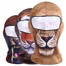 Wholesale Adult Motorcycle Full Face Helmet - Fashion Halloween 3D Animal Balaclava Ski Motorcycle Biker Motorbike Neck Warmer Helmet Hood Hat Headwear Full Face Mask Headscarf Headgear