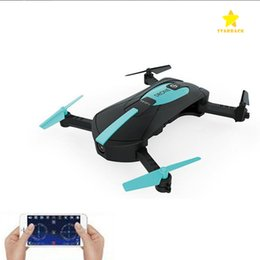 Wholesale Mini Electric Folding - 2.4G Portable JY018 Foldable Mini Selfie Drone Pocket Folding Quadcopter Altitude Hold Headless WIFI FPV Camera RC Helicopter Toys