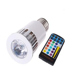 Wholesale Spot Led Ir - 5W RGB LED Bulb E27 G10 MR16 With IR Remote Controller AC 85-265V 500LM 4 Modes Color Change Spot Light For Decoration