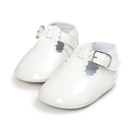 Wholesale Infant Ballet Dress - Wholesale- ROMIRUS Newborn Baby Girls Shoes Kids Princess Infant Toddler Patent Leather Mary Jane First Walkers Solid Dress Ballet Shoes