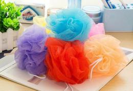 Wholesale Plastic Bath Cleaner - Bath Pouf Shower Sponge Exfoliating Cleanse Soothe Skin Loofah Luffa Body puff Mesh Body Scrubber Bath Pouf