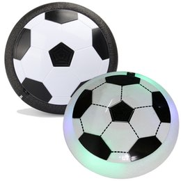 Wholesale Light Up Football Toy - Air Power Soccer Ball LED Light Up flying toy Colorful Disc Indoor Football Multi-surface Hovering and Gliding toy OTH417