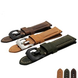 Wholesale Watchband 26mm - New 26mm For Garmin Derek Fenix3 Fenix 3 Watches Band Strap Belt Crazy Horse Leather Watchband 3 color