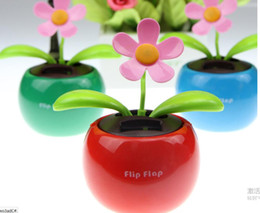 Wholesale Energy Cars - Hot Wholesale New Factory direct Hot Sales of solar energy Apple flowers automatically swing sun   car accessories