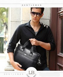 Wholesale Leather Notebooks For Men - free shhipping 2017 new fashion briefcase,wallet 2 for a set laptop leather bag, for 15 inch notebook computer, 15.6 inch laptop bag