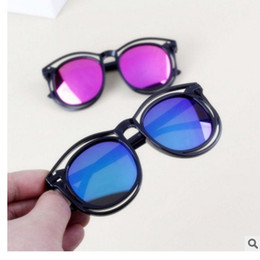 Wholesale Reflective Children - 2017 New Kids Children Sunglasses Double Frame Hollow Design Sun glasses For Boys Girls Colorful Reflective Baby Goggle