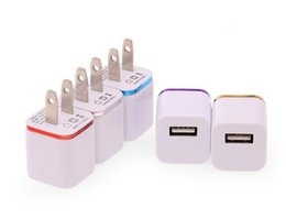 Wholesale Universal Travel Ac Usb Adapter - For ihone 7 plus USB Wall Charger adapter, 5V 1A Universal USB Ac Wall Travel Power Home Charger Adapter for Samsung S7 iPhone 6 6S Plus