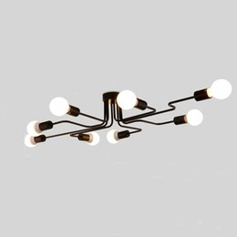 Wholesale Modern Style Bedrooms - Personality ceiling lamp light modern Chinese style led long iron led ceiling light fixturesled ceiling light fixtures,lamp customization