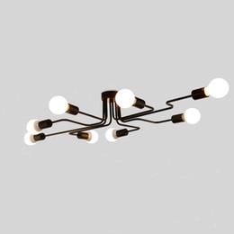Wholesale hall switch - Personality ceiling lamp light modern Chinese style led long iron led ceiling light fixturesled ceiling light fixtures,lamp customization