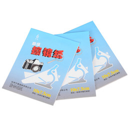 Wholesale Optic Camera - Wholesale- 5X 50 Sheets Soft Camera Lens Optics Tissue Cleaning Clean Paper Wipes Booklet for camera