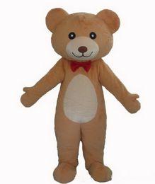 Wholesale Teddy Bear Mascot Costumes - High quality !!! Adult red tie teddy bear costume teddy bear mascot costume plush teddy bear costume
