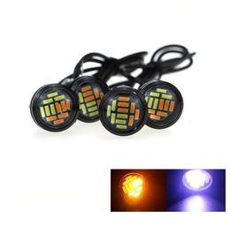 Wholesale Eagle Eye 23mm - 2x High Brightness Eagle Eye LED 23mm Dual Color Switchback 4014 SMD 12 LED Daytime Running Light Work Lights Source Driving Lamp DRL