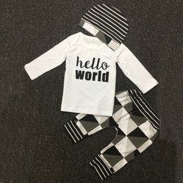 Wholesale Wholesale Prices Infant Clothing - Infant Clothes Baby Clothing Sets Cotton Letters Long Sleeve 3pcs Suit with Best Quality and Price 2102121