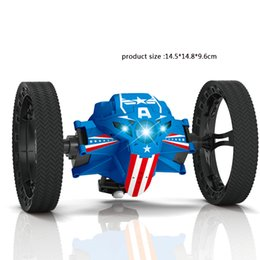 Wholesale Wholesale Rc Buggies - 2017 Newest Remote Control Bounce Car 2.4GHz RC Jumping Car 360 Degree Rotation Stunt Car Toy With LED Lights And Music