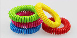 Wholesale Child Repellent - New good quality Mosquito Repellent Band Bracelets Anti Mosquito Pure Natural Adults and children Wrist band mixed colors Pest Control