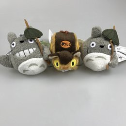 "Wholesale Bus Tv - Top New 3 Styles 4"" 10CM CAT BUS Pendants My Neighbor TOTORO Stuffed Keychains Dolls Children Soft Plush Toys"