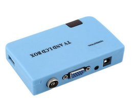 Wholesale Free Digital Tv Box - HOT sale Digital TV Box Tuner DVB-T Receiver LCD for radio TV in low price free shipping