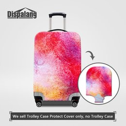 Wholesale Brand Trolley Case - Brand Designer Travel Luggage Protective Covers For 18~30 Inch Suitcase Waterproof Stretch Elastic Trolley Case Protector Dust Baggage Cover