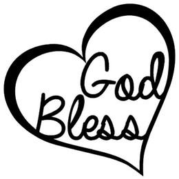 segen-aufkleber Rabatt Gott segnen Herz Vinyl Aufkleber Aufkleber Auto Fenster Wand Stoßstange Liebe Jesus Bibel