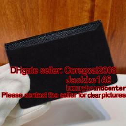 Wholesale Mens Leather Credit Card Holder - MENS NEO PORTE CARTES N62666 62666 vertical card holder wallet credit cards black plaid 11X7cm