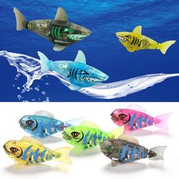 Wholesale Toy Swimming Sharks - Baby fish Bath Toy kids cartoon shark Swimming toys children Shower toys C2449