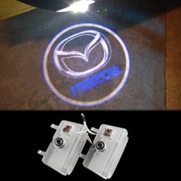 Wholesale Courtesy Lights - LED Car Door Logo Light For Mazda 6 ATENZA Ghost Shadow Courtesy Laser Projector Welcome Lamp 2013-2016