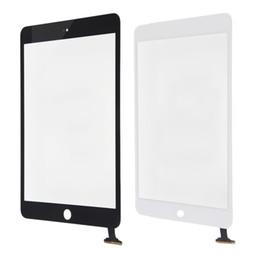 2019 a23 q88 écran tactile Numériseur d'écran tactile de catégorie A +++ pour l'iPad 2 3 4 Assemblée blanche noire de rechange avec l'adhésif à bouton de maison