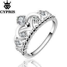 Wholesale Crown Ladies Rings - WHOLESALE R601-8 Best Selling On Sale silver new design fashion finger ring lady Woman crown cz stone anneau anel anneau 925