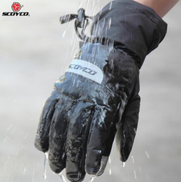 Wholesale Waterproof Touch Screen Gloves - New Brand Scoyco MC32 Motorcycle Gloves Touch Screen Winter Warm Waterproof Windproof Sports Racing gloves Moto Protective Gear