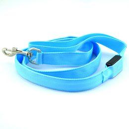 Wholesale Usb Rope Light - Estrella Flashing Dog Chain USB Charge 2.5cm Width LED Pet Pulling Rope Dacron Hauling Cable Environmental Leashes Supply