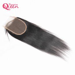Wholesale Coarse Virgin Hair - Brazilian Light Yaki Lace Closure Brazilian 100% Human Virgin Hair Coarse Yaki Indian Yaki Closure 4x4 Size Natural Color Free Shipping