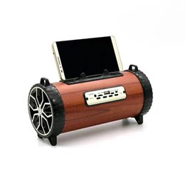 Wholesale Mini Usb Car Holder - XM2 Big Bass Outdoor Wood Bluetooth Speaker Music Center Wireless Sports Portable Subwoofer Bike Car music Speakers With Phone Holder