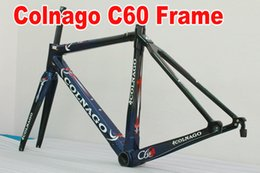 Wholesale Carbon Road Frames Colnago - Blue Colnago C60 T1000 Full carbon fiber road bike frameset carbon bike frame BB386 size finish glossy matte