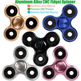 Wholesale Bear 5c - 5C Fidget Spinner Toys Triangle Hand Spinners Aluminum alloy CNC Torqbar Stainless Bearing EDC Finger Tips Rotation decompress HandSpinner