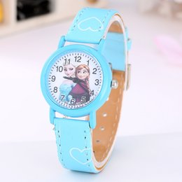 Wholesale Snow White Watches Gift - Fashion Children Gift Frozen Snow white watch Cartoon Mouse fashion quartz cartoon Jelly Candy Cute Lovely Leather students watches