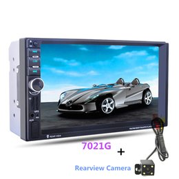 """Wholesale Car Rear View Camera Dhl - DHL 4PCS 7"""" Touch Screen 7021G 2 Din Car MP5 Player GPS Navigation Bluetooth Auto Multimedia Player with FM Radio Rear View Camera Remote"""