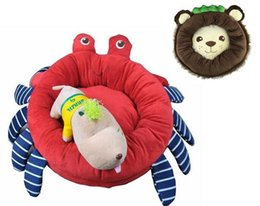 Wholesale Dog Kennel Cushions - Lion Crab Pet Dog Cat Bed House Sofa Mat Cushion Kennel Special Design For Puppy Kitten