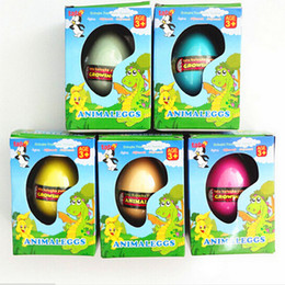 Wholesale Inflatable Boxing Toy - Wholesale-Gift Box Hatching Inflatable Animals Growing Pet Dinosaur Swelling Eggs Toys