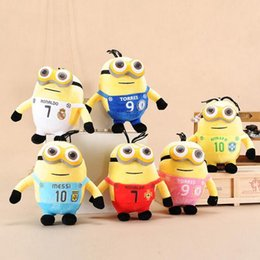 Wholesale 3d Plush Eyes - 20 cm Despicable Me big eyes sprouting small yellow Gong Tsai 3D Eye Despicable Me Plush Toys Valentine's Day Gift