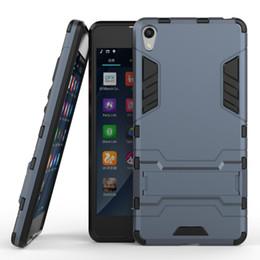 Lujo para Sony Xperia E5 Funda de goma F3311 F3313 Slim Robot Armor Cubierta del teléfono Pata de cabra dura Duro a prueba de golpes Casos para Sony E5 Coque desde fabricantes