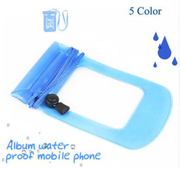 Wholesale Band Phone Covers - Waterproof PVC Pouch Underwater Bag Waterproof Cases With Neck Rope Swimming Diving Arm band Covers For 3.5-5.5 inch Universal Moblie Phone