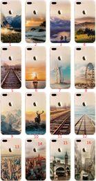 Eiffel iphone online-Für Apple iphone 6 6S plus iphone 7 plus SE-Silikonfalllandschaft, die TPU-Handyfälle Elizabeth Tower Big Ben Eiffel 012 überzieht