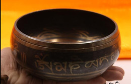 Wholesale Type Song - Nepalese Handmade Song Bowl Buddhist Syllabus Yoga Practitioners Through Bowl Copper Chime House Decoration 8-17.5cm