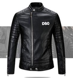 Wholesale Brand Men Leather Coat - New 2017 Brand men Motorcycle jacket water washed leather jacket men clothing fashion skull leather coat