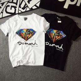 Camisa de diamante nova chegada on-line-Chegada nova marca de qualidade camisa 3D Diamante homens camiseta de manga curta skate moda marca hip hop tshirts para homens