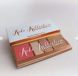Wholesale Pressed Blush - HOT new makeup KYLIE Koko Kollection BY kylie cosmetics pressed blush  powder palette 4 color !DHL Free shipping!