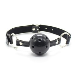 Wholesale Games Sexo - Fun leather goods, adult solid mouth ball Gag,erotic toys,Sex toys for couples,Fetish,sex slave,adult games shop,Sexo products