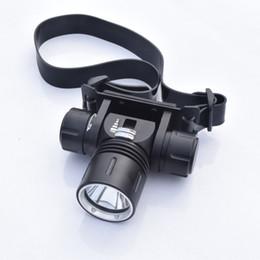 Wholesale Underwater Headlight - Wholesale-50 Meters Underwater Diving Headlights 2000 lumens XML L2 Led Scuba Diving Headlamp Waterproof Head Torch